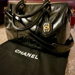 Chanel Patent Leather Mini Duffle Bag